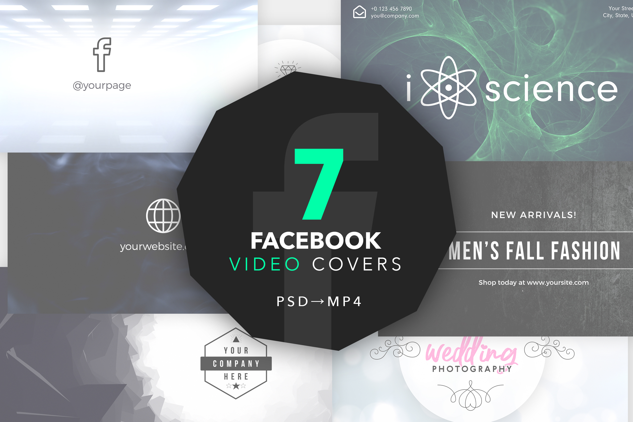 Freebie: Facebook Video Cover (.PSD)