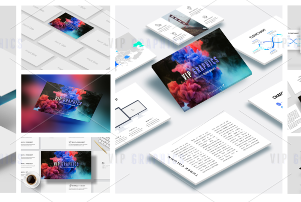 Slides Perspective Mockup Bundle
