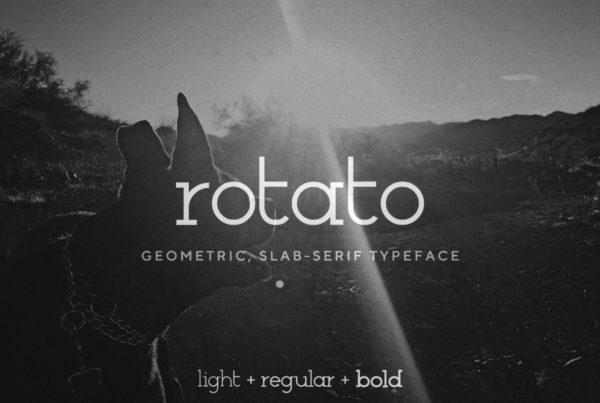 Rotato — a geometric, slab serif typeface