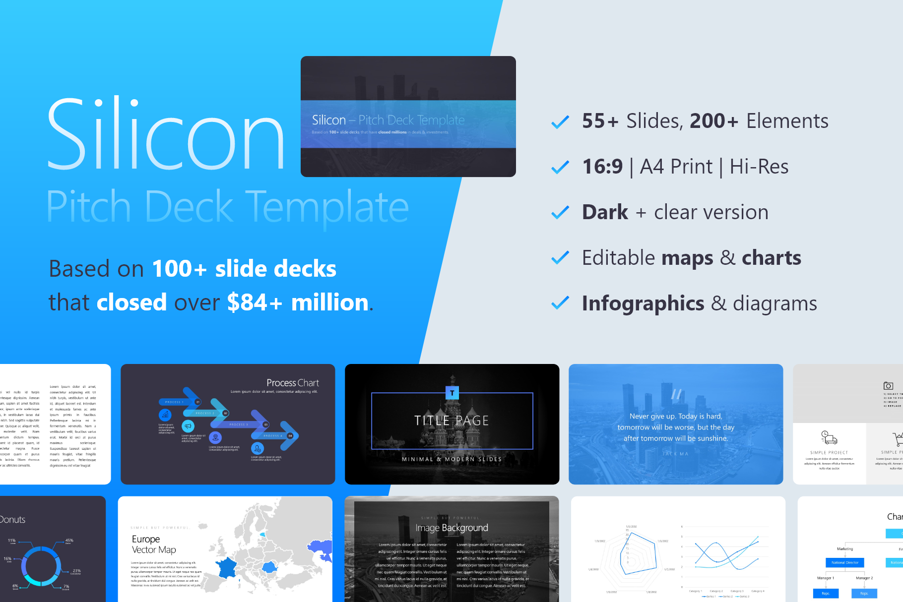 Silicon Pitch Deck Template for PowerPoint: Slides that closed millions for Startups