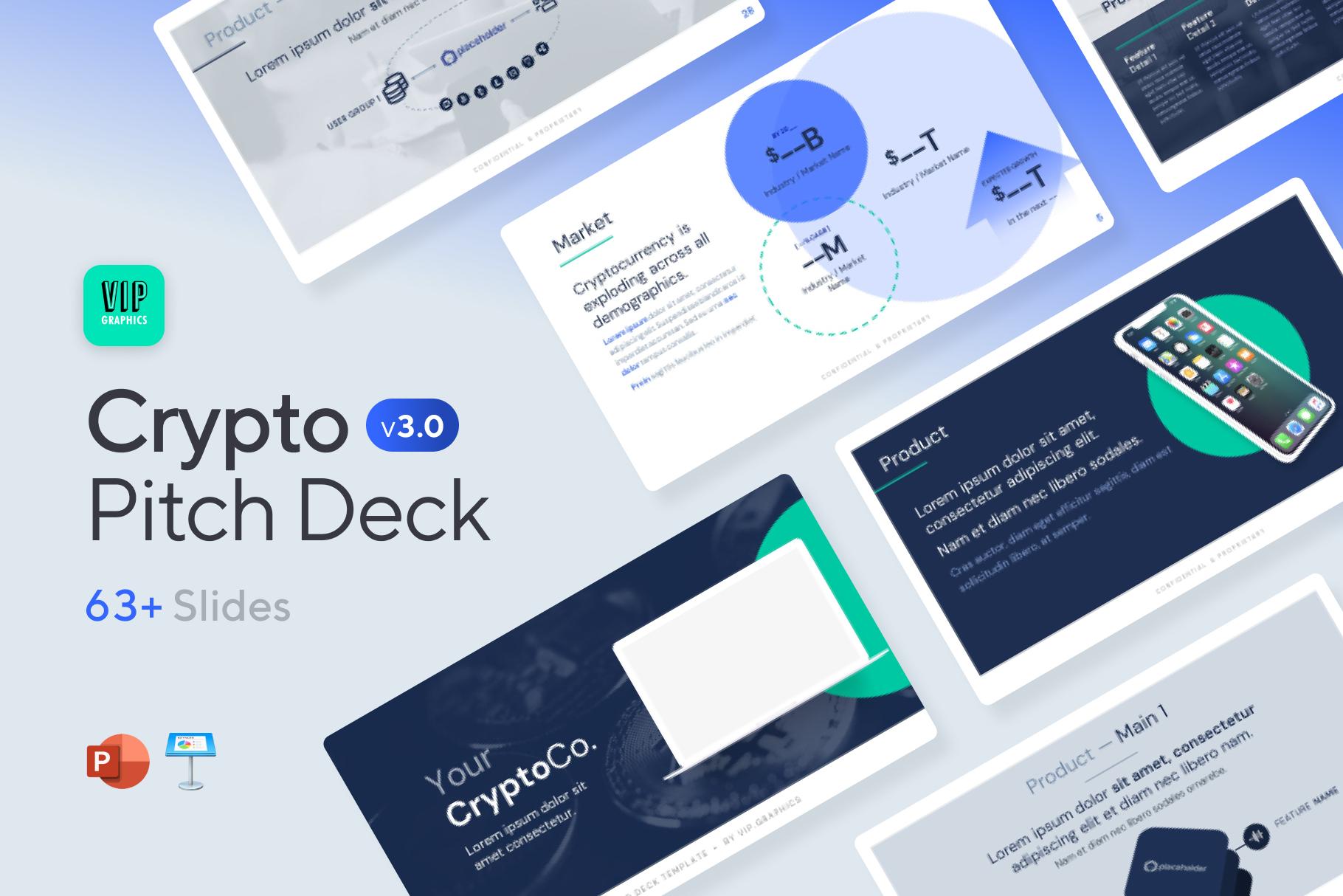 Crypto Pitch Presentation Template Slide Deck | VIP.graphics
