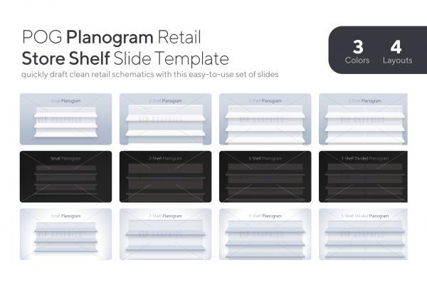 Planogram Retail Store Shelf Template | VIP.graphics