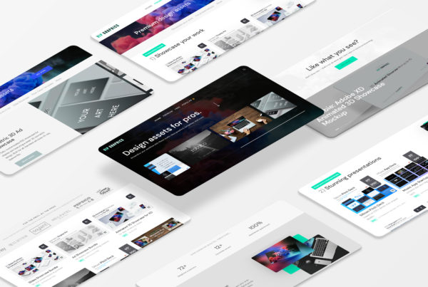 Perspective Website Mockup Bundle