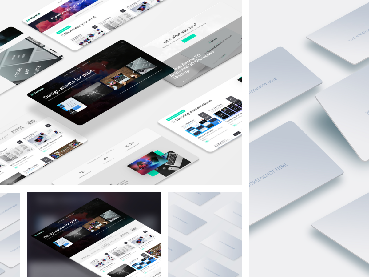 Perspective Website Mockup PSD Desktop (Preview) | VIP.graphics