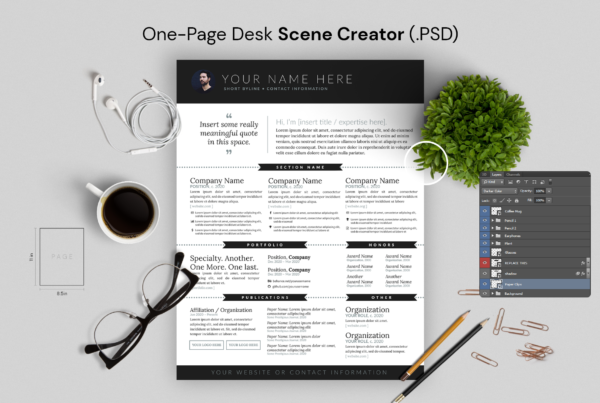 Page Scene Creator PSD (Top-Down Desk)
