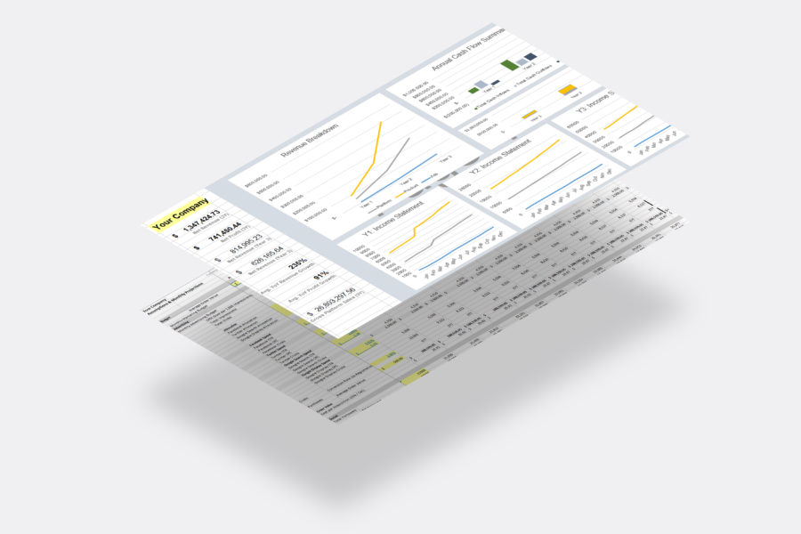 Financial Model / Projections Charts Dashboard (Preview) | VIP.graphics