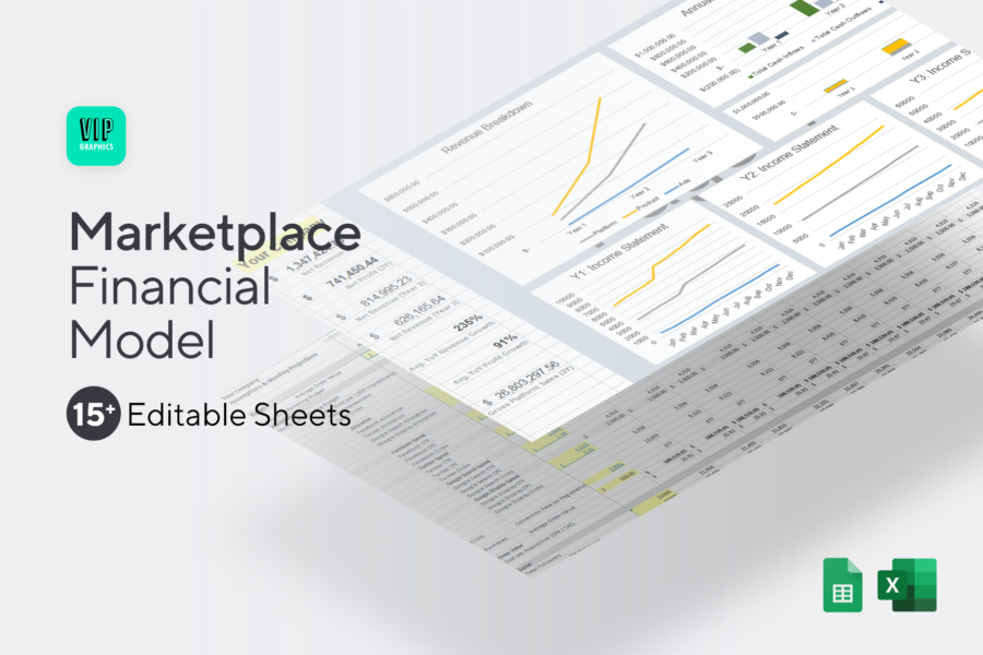 Startup Marketplace Financial Model & Projections Template for Excel