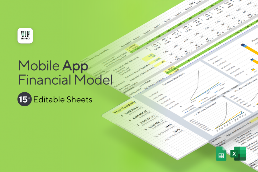 Mobile App Financial Model & Projections Template for Excel