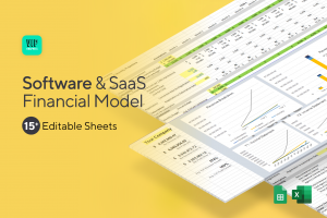 Software & SaaS Startup Financial Model Template for Excel