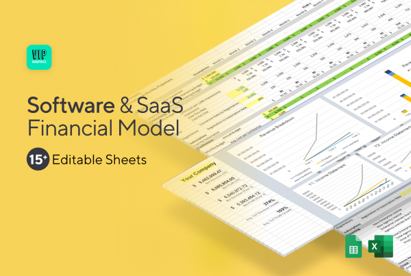 SaaS & Software Financial Model Template for Excel