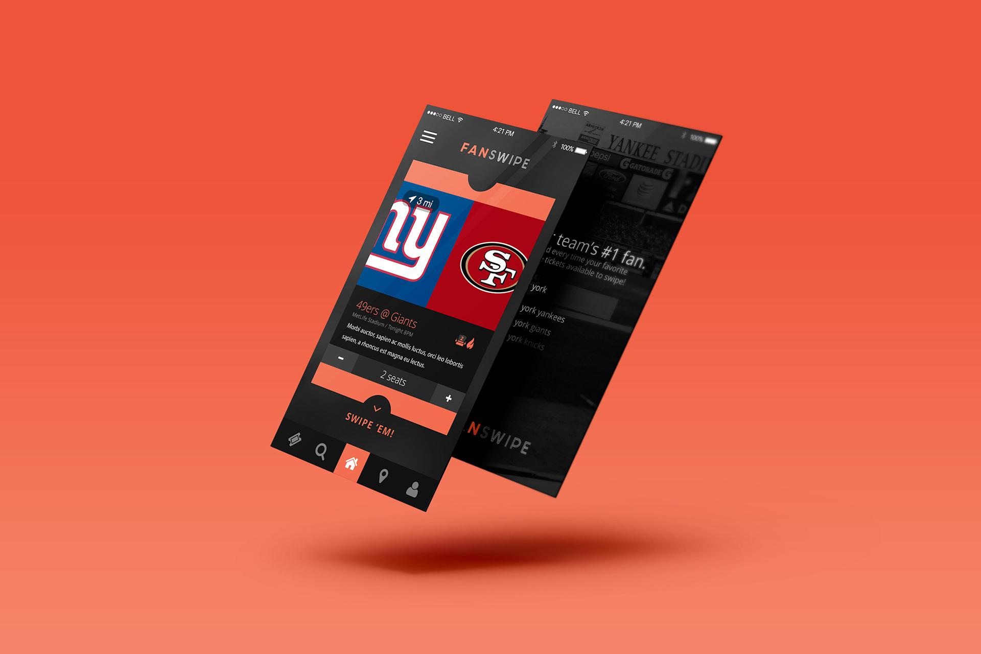 Ticket Swipe UI Kit Sports Mobile App | VIP.graphics