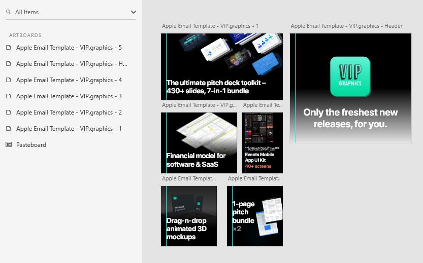 Apple iOS 14 Inspired Email Newsletter Template - Editable Images: Drag-n-drop / WYSIWYG editing via Adobe XD (free)