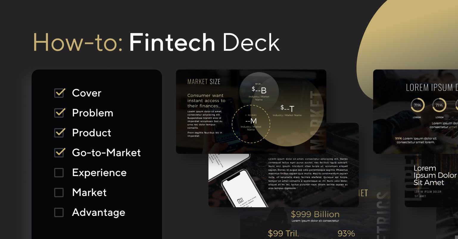 How-to design a FinTech deck