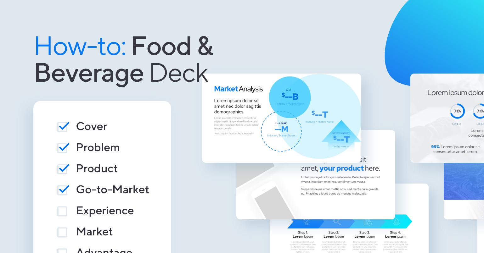 How-to design a Food & Beverage deck