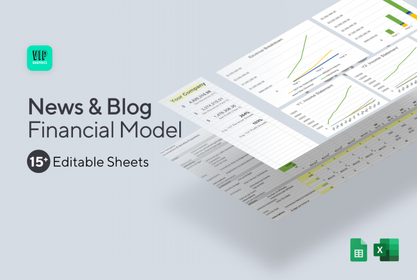 News / Blog Financial Model & Projections Template