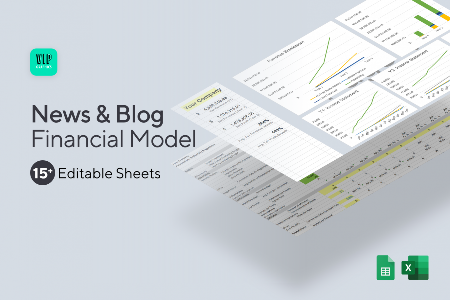 News/Blog: Financial Model / Projections Excel Template (Preview) | VIP.graphics