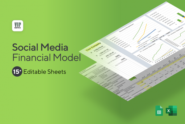 Social Media Financial Model & Projections Template