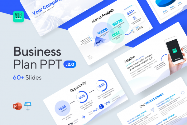 A pitch deck template for startups and founders | VIP.graphics