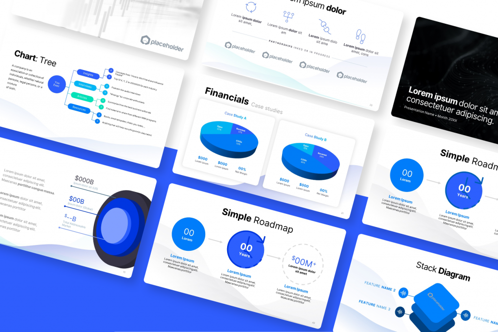 Slides & templates were designed to help startups create high-quality and impactful pitch decks | VIP.graphics