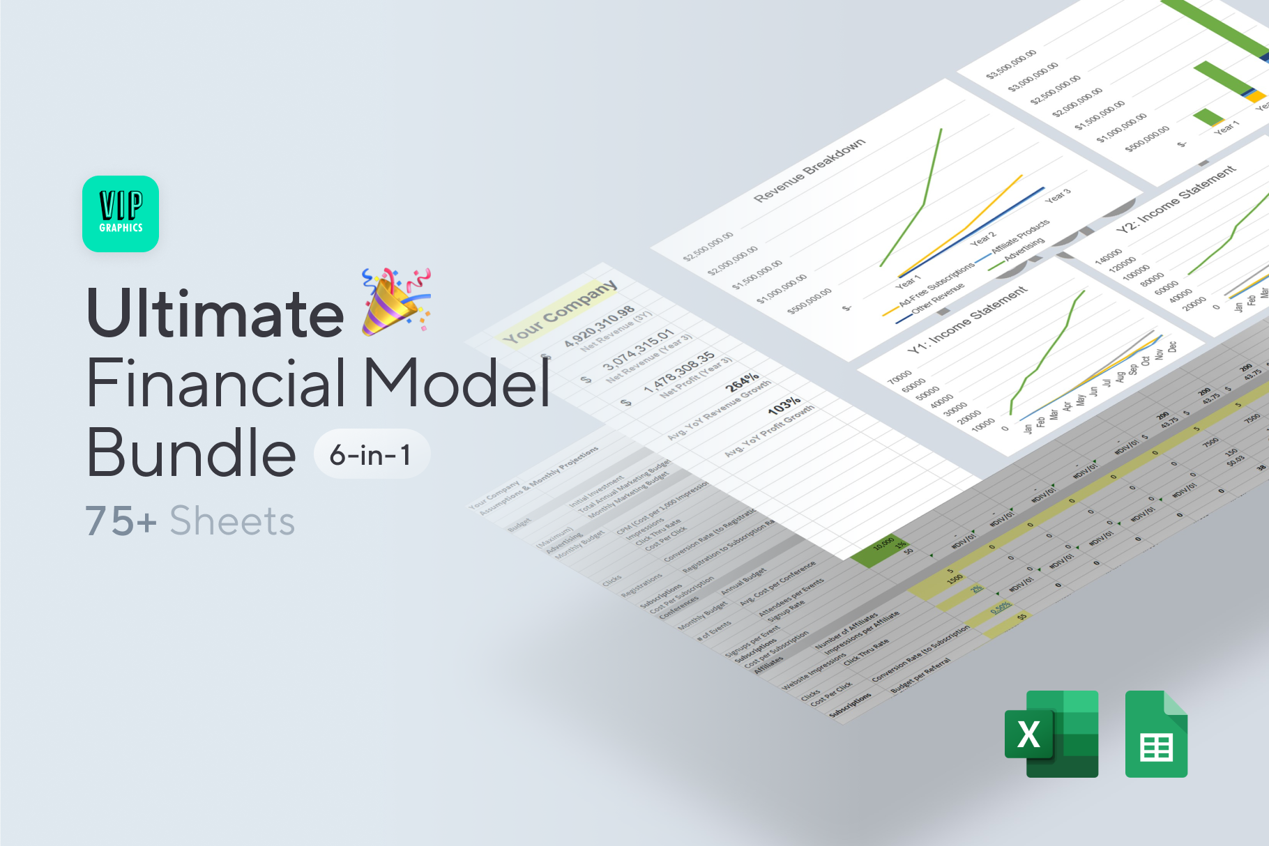 Ultimate Financial Model / Projections Excel Template Bundle | VIP.graphics