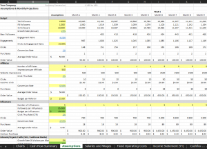 Assumptions Sheet: Done-for-You Benchmarks- eCommerce Financial Model Template for Excel | VIP.graphics