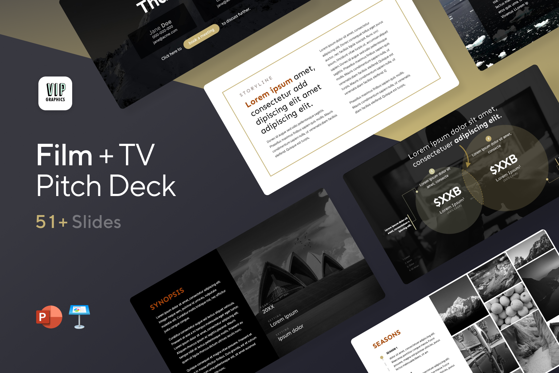 Film & TV - Ultimate Screenplay Pitch Deck Template | VIP.graphics
