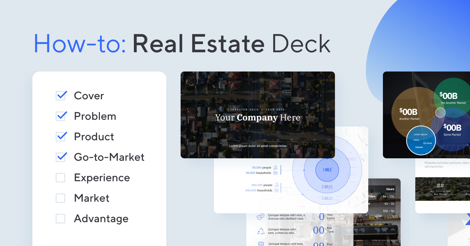 How-to design a Real Estate deck