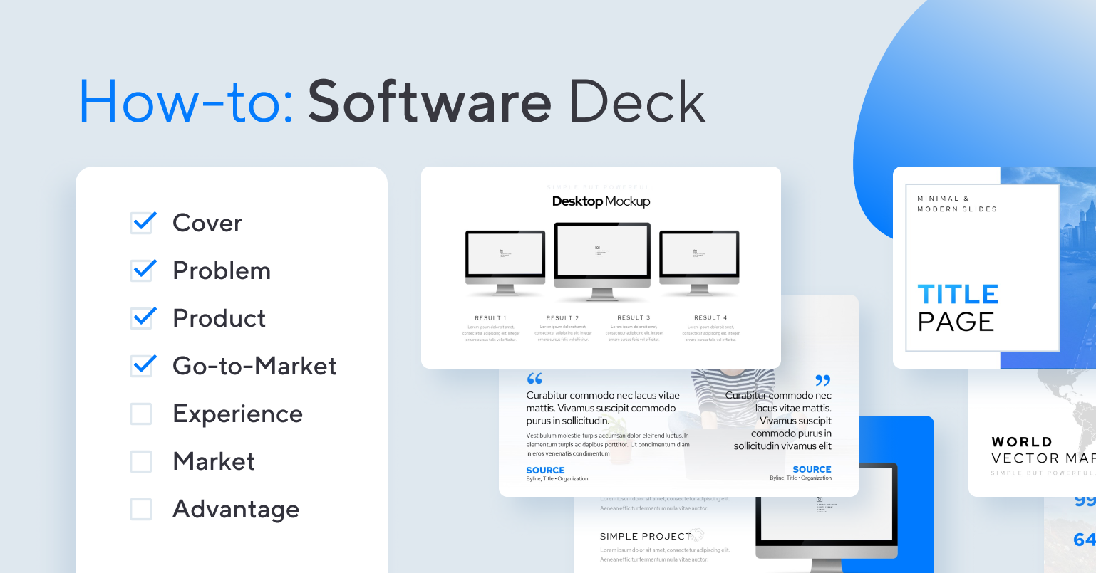 How-to create a software/SaaS pitch deck