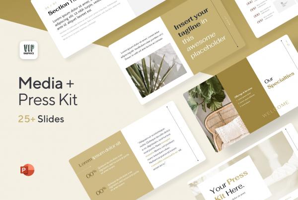 Media Kit / Press Pack Template (PPT)