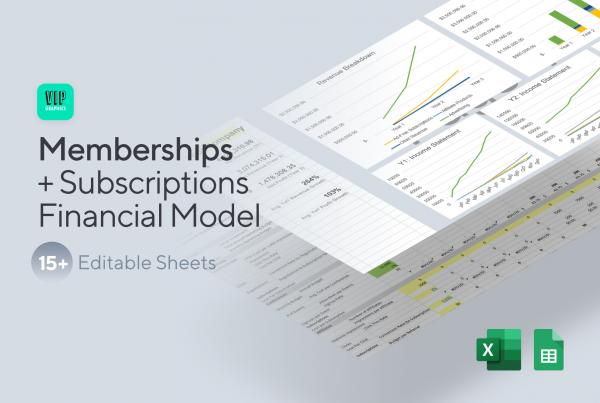 Memberships & Subscriptions Financial Model Template