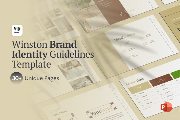 Brand Book: Identity Design Guidelines Template for PowerPoint   VIP.graphics