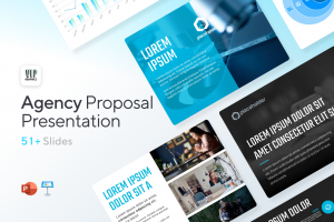 Agency Proposal 4:3 Presentation Template for PowerPoint & Keynote - Strategies, Services, Infographics | VIP Graphics
