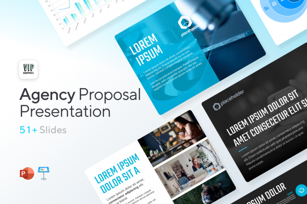 Agency Proposal 4:3 Presentation Template for PowerPoint & Keynote - Strategies, Services, Infographics   VIP Graphics