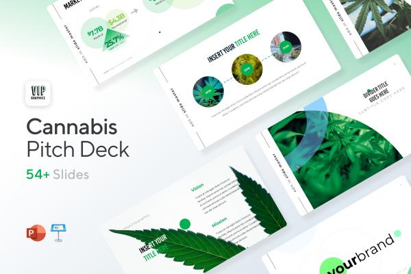 Cannabis, Hemp & CBD - Pitch Deck Template for PowerPoint & Keynote | VIP Graphics