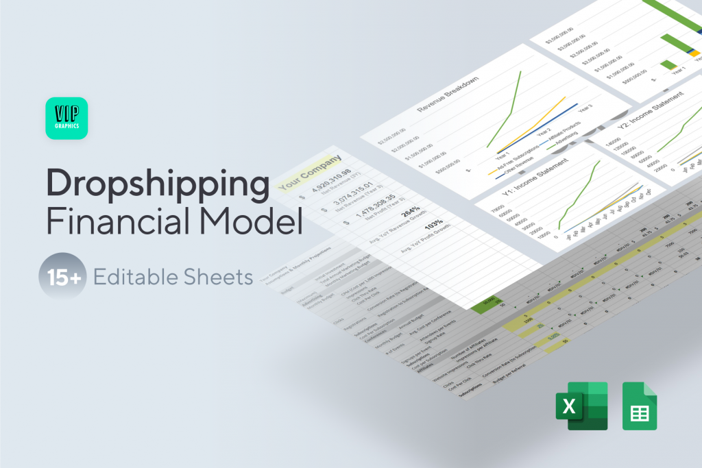 Dropshipping Financial Model Template