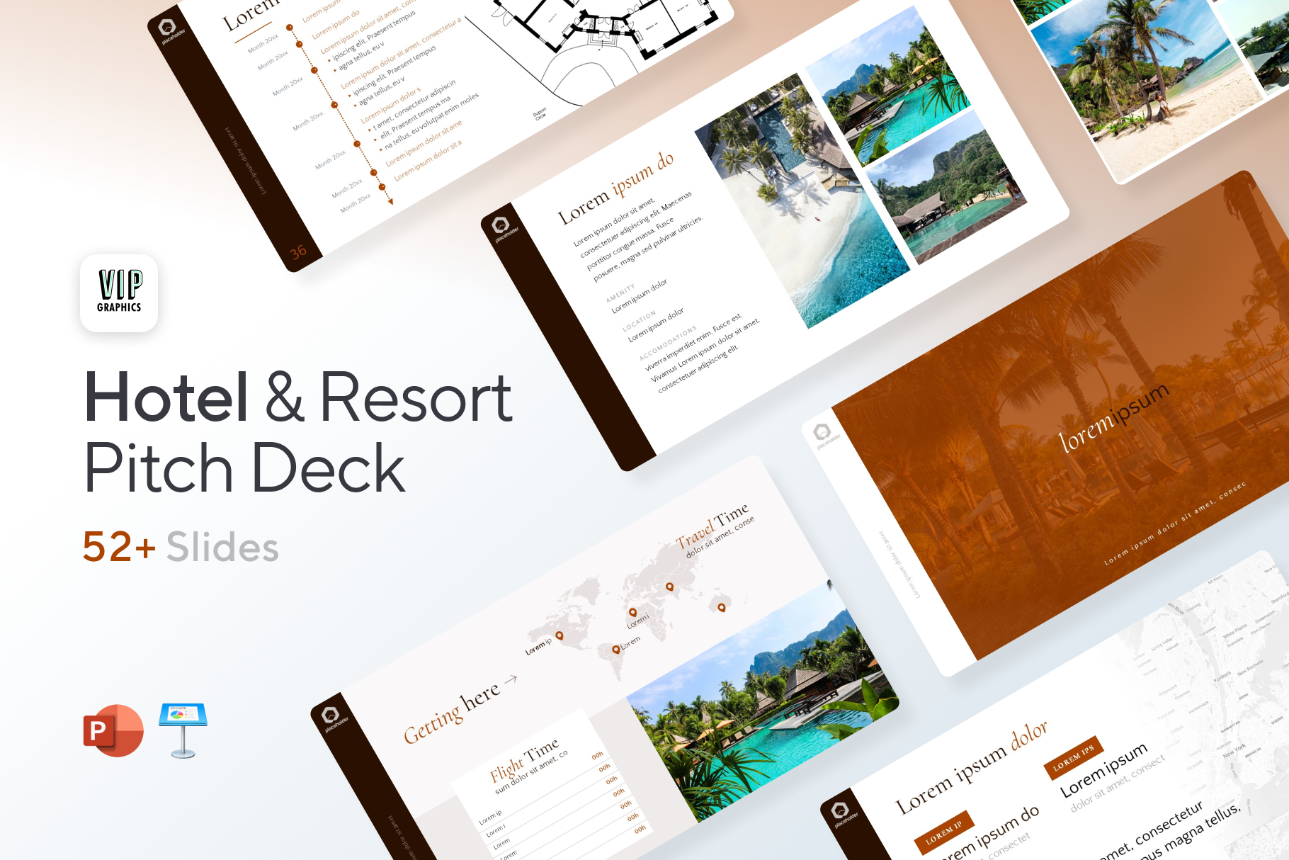 Hotel & Resort - Travel Pitch Deck Template for PowerPoint & Keynote | VIP Graphics