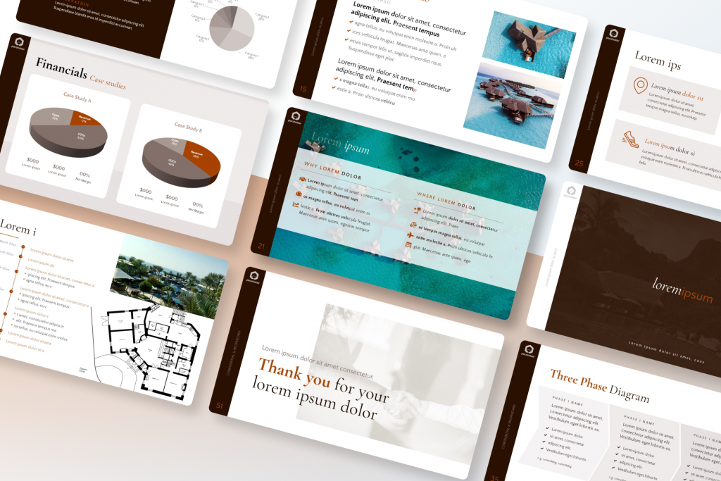 Hotel & Resort Investment Pitch Presentation Template - Travel Tropical Professional Theme