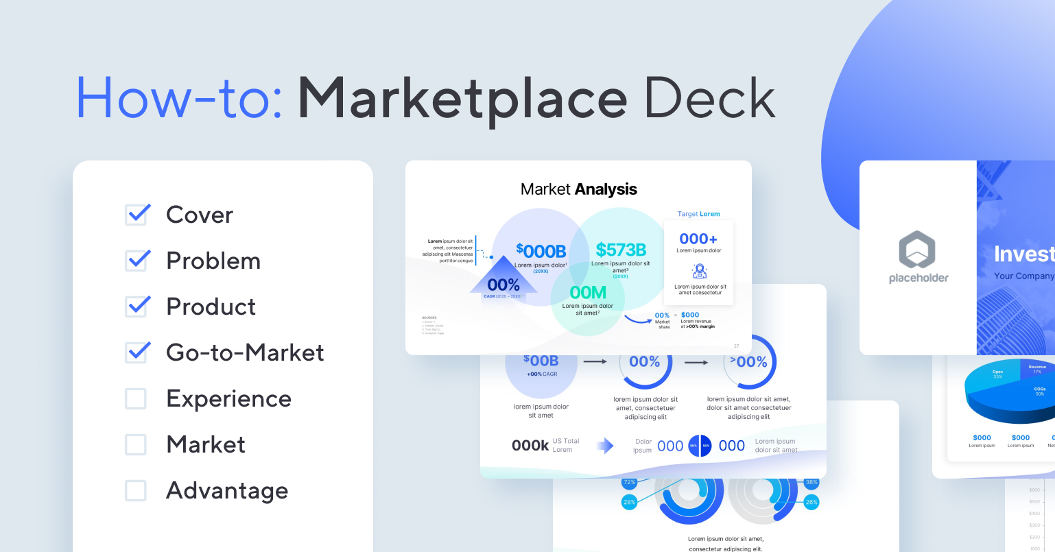How to create a Marketplace Startup Pitch Deck