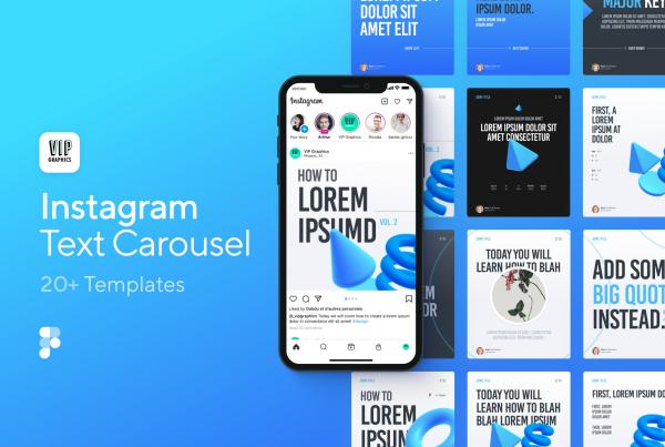 Creative Instagram Carousel Template for Figma