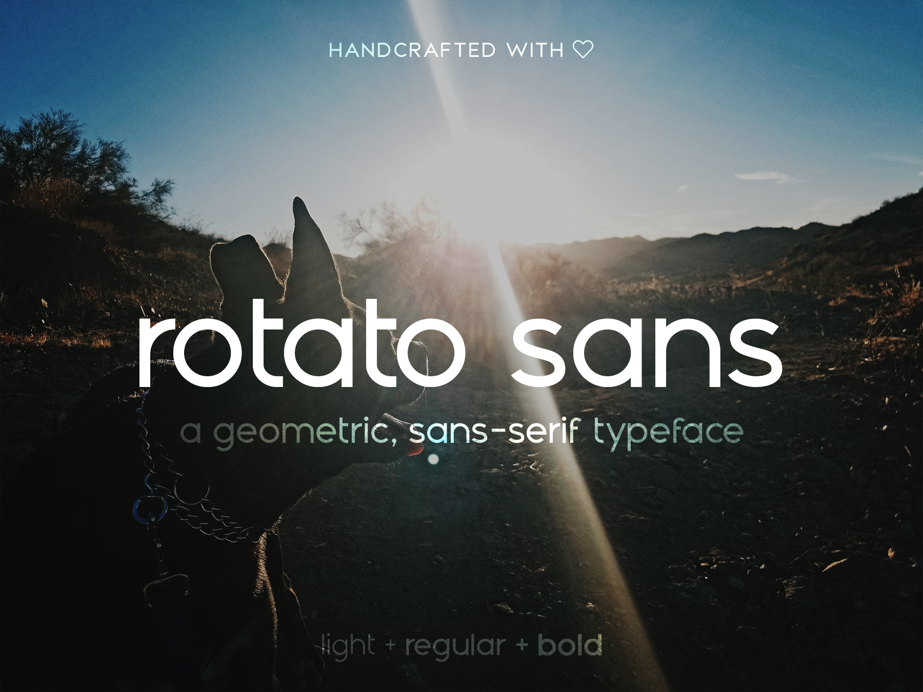 Rotato - a modern, geometric slab-serif font | VIP Graphics