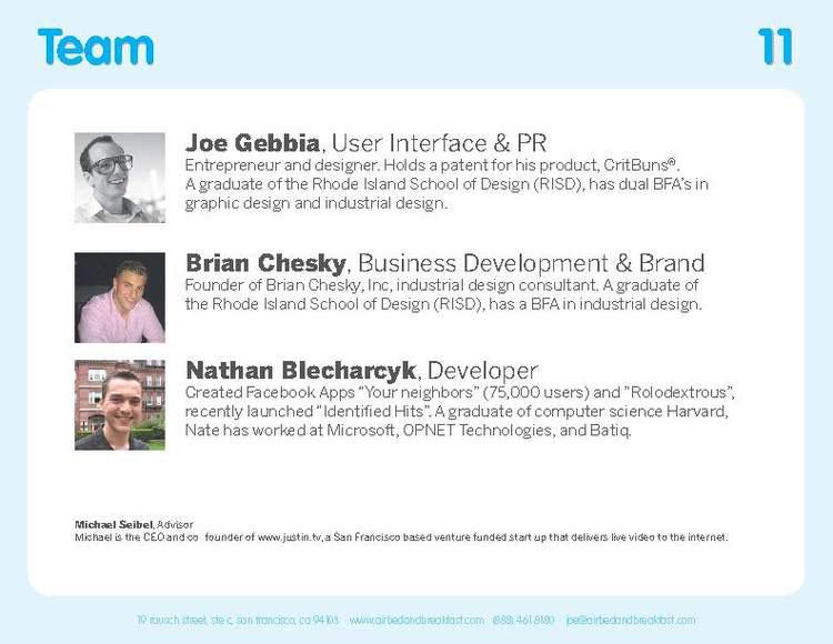 Airbnb Pitch Deck Original: Team Slide — Best Pitch Deck Examples | VIP Graphics