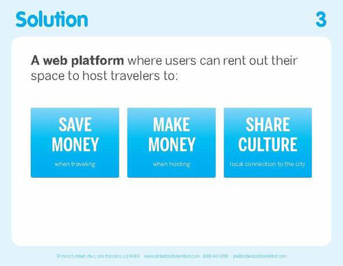 Airbnb Pitch Deck Original: Solution Slide — Best Pitch Deck Examples | VIP Graphics