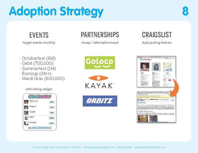Airbnb Pitch Deck Original: Market Adoption Slide — Best Pitch Deck Examples | VIP Graphics