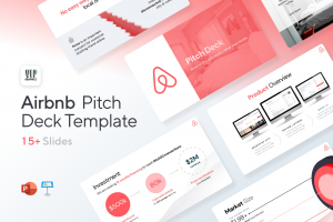 Airbnb Pitch Deck Template: Winning Startup Investor Presentation for PowerPoint & Keynote