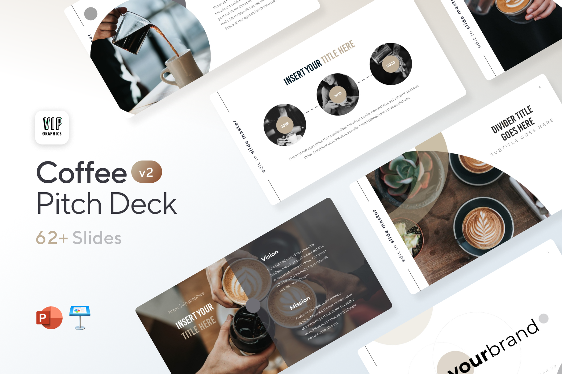 Coffee Pitch Deck Template