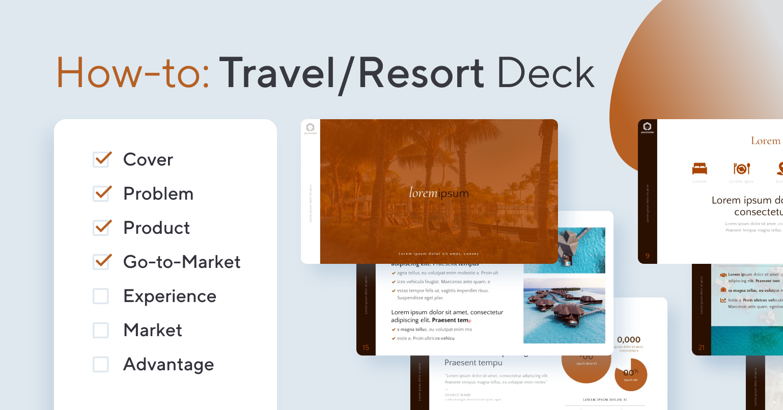 How to Create a Hotel / Travel Pitch Deck