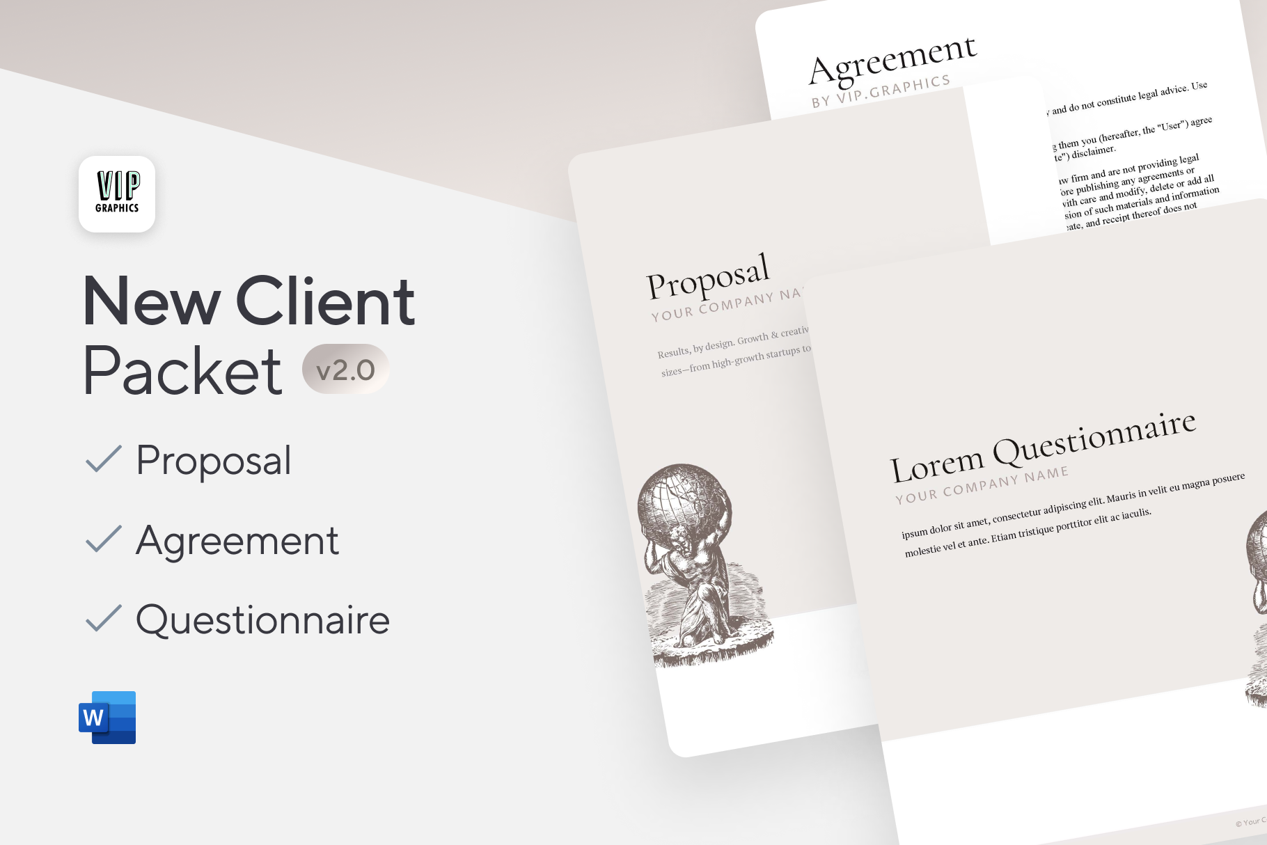 New Client Welcome Kit: Onboard new clients like a pro: templates for proposals, questionnaires & agreements.
