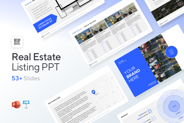 Real Estate Listing Presentation Template for PowerPoint & Keynote   VIP.graphics