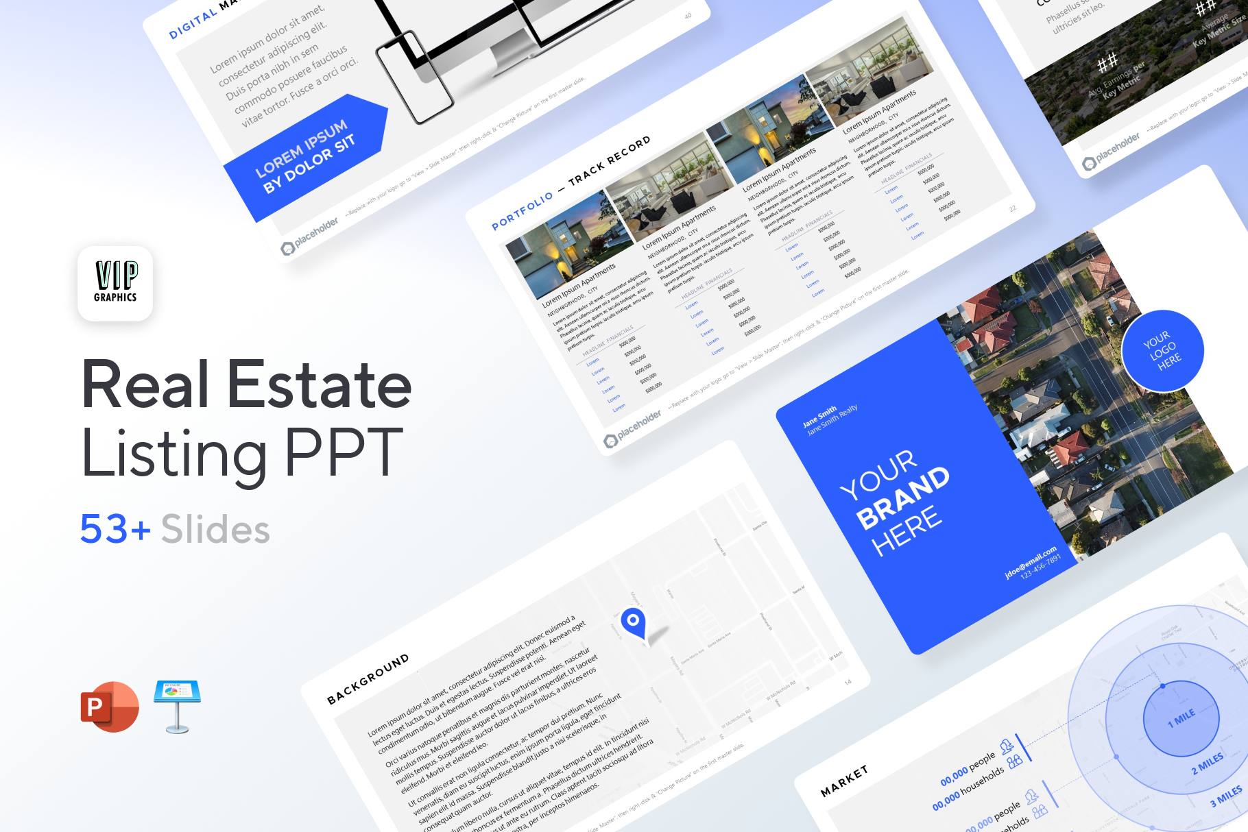 Real Estate Listing Presentation Template for PowerPoint & Keynote | VIP.graphics