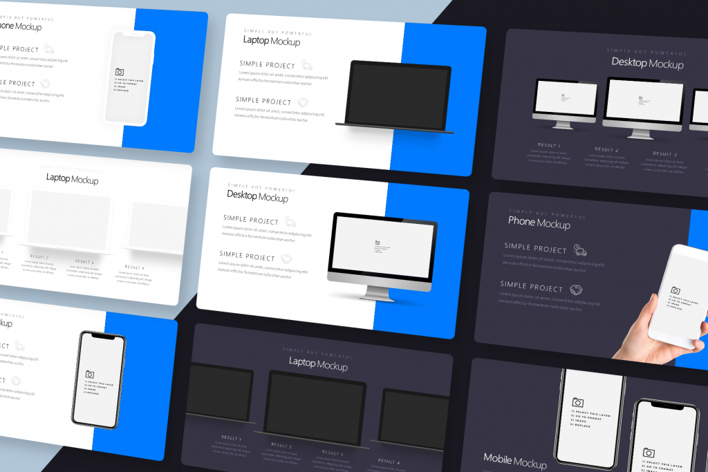 Product Screenshot & Device Mockup Slides - Silicon Pitch Deck Template